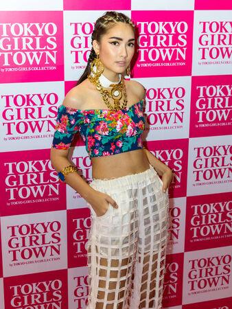 BANGKOK - MAY 10   An unidentified Model at Tokyo Girls Town by Tokyo Girls Collection booth during in Thailand Comic Con 2014 on May 10, 2014 at Royal Paragon Hall, Bangkok, Thailand