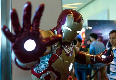 BANGKOK - MAY 10   Iron Man model in Thailand Comic Con 2014 on May 10, 2014 at Royal Paragon Hall, Bangkok, Thailand  Editorial