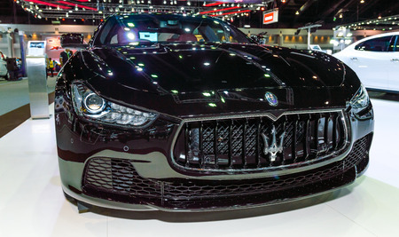 mc: NONTHABURI - December 02 : The Maserati Gran Turismo MC on display at Thailand International Motor Expo 2014 on December 02, 2014 in Nonthaburi, Thailand.