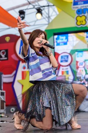 BANGKOK - MARCH 14 : Faylan (Japanese singer) in Thai-Japan Anime Music & Festival 5th on March 14, 2015 at Central World, Bangkok, Thailand.