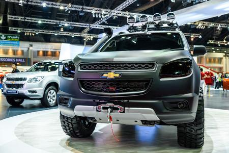 trailblazer: BANGKOK - MARCH 24 : Chevrolet Trailblazer on display at The 36th Bangkok International Motor Show  Editorial