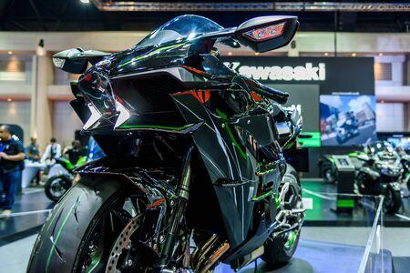ninja: BANGKOK - MARCH 24 : Kawasaki Ninja H2 at The 36th Bangkok International Motor Show