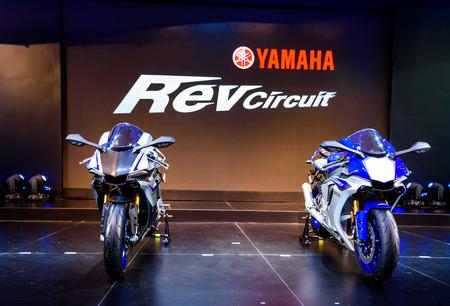 BANGKOK - MARCH 24 : Yamaha R1m on display at The 36th Bangkok International Motor Show  Editorial