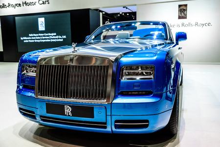 phantom: BANGKOK - MARCH 24 : Rolls Royce Phantom Drophead Coupe on display at The 36th Bangkok International Motor Show