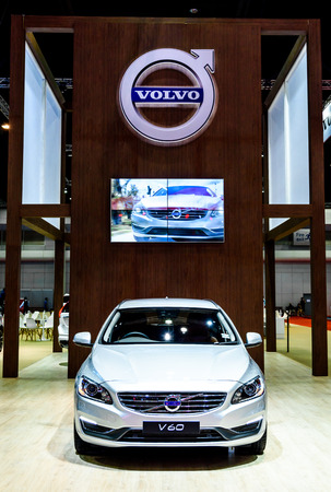 t5: BANGKOK - MARCH 24 : Volvo V60 T5 Special edition on display at The 36th Bangkok International Motor Show Editorial