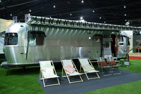 airstream: BANGKOK - MARCH 24 : Airstream Classic car on display at The 36th Bangkok International Motor Show  Editorial