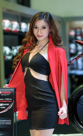easing: BANGKOK - JUNE 24 : Unidentified model on display at Bangkok International Auto Salon 2015 on June 24, 2015 in Bangkok, Thailand. Event of decoration and modify car.