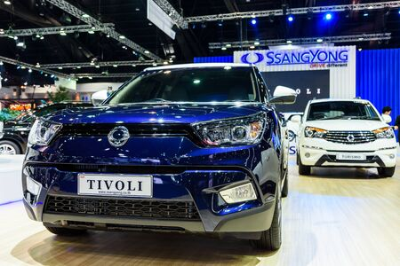 no boundaries: BANGKOK - MARCH 22 : SsangYong Tivoli on display at The 37th Bangkok International Motor Show : No Boundaries Mobility on March 22, 2016 in Bangkok, Thailand. Editorial