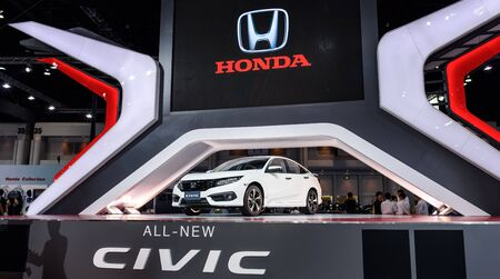 no boundaries: BANGKOK - MARCH 22 : The All New CIVIC on display at The 37th Bangkok International Motor Show : No Boundaries Mobility on March 22, 2016 in Bangkok, Thailand. Editorial