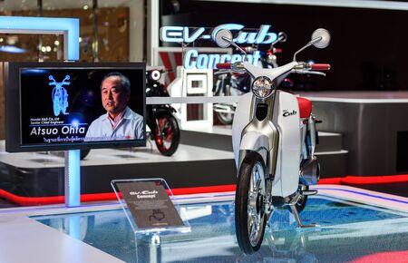industrail: BANGKOK - MARCH 22 : Honda EV-Cub Concept  on display at The 37th Bangkok International Motor Show : No Boundaries Mobility on March 22, 2016 in Bangkok, Thailand.