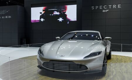 spectre: BANGKOK - MARCH 22 : Aston Martin SPECTRE 007 on display at The 37th Bangkok International Motor Show : No Boundaries Mobility on March 22, 2016 in Bangkok, Thailand.
