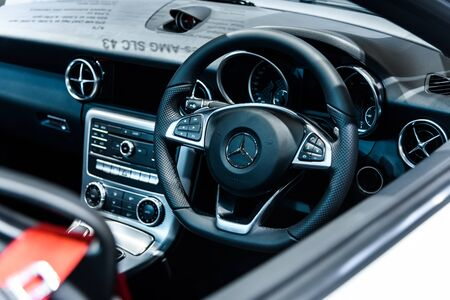 NONTHABURI - NOVEMBER 30 : Image inside of The Mercedes Benz SLC 43 on display at Thailand International Motor Expo 2016 on December 8, 2016 in Nonthaburi, Thailand. Editorial