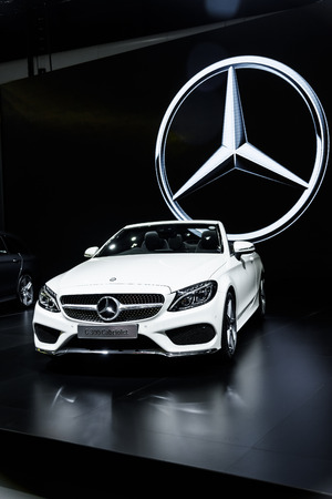30 s: NONTHABURI - NOVEMBER 30 : The Mercedes Benz S 300 Cabriolet on display at Thailand International Motor Expo 2016 on December 8, 2016 in Nonthaburi, Thailand. Editorial