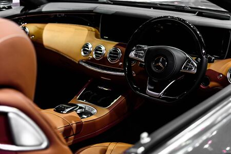 30 s: NONTHABURI - NOVEMBER 30 : Image inside of The Mercedes Benz S 500 Cabriolet on display at Thailand International Motor Expo 2016 on December 8, 2016 in Nonthaburi, Thailand. Editorial