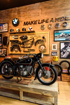 NONTHABURI - NOVEMBER 30 : BMW Motorcycle in Booth BMW Motorrad on display at Thailand International Motor Expo 2016 on December 8, 2016 in Nonthaburi, Thailand. Editorial