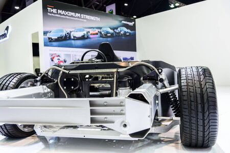 BANGKOK - MARCH 28 : Image inside of McLaren car on display at The 38th Bangkok International Motor Show : Reach to The Planet of Technology on March 28, 2017 in Bangkok, Thailand.