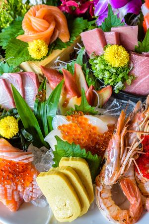 Mixed Sashimi Set Japanese Food.