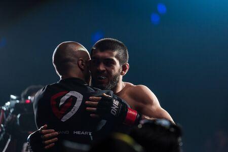 BANGKOK - March 24 : Saygid Guseyn Arslanaliev of Turkey in One Championship : IRON WILL on March 24, 2018 at Impact Arena, Muang Thong Thani, Bangkok, Thailand. Editöryel