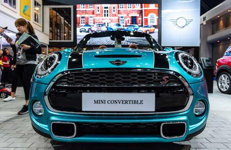 BANGKOK - MARCH 27 : Mini Cooper S : Convertible on display at The 39th Bangkok International Motor Show : Revolution in motion on March 27, 2018 in Bangkok, Thailand.