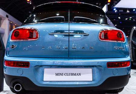 BANGKOK - MARCH 27 : Mini Clubman on display at The 39th Bangkok International Motor Show : Revolution in motion on March 27, 2018 in Bangkok, Thailand.