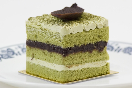 kidding: Greentea with Kidding Bean Cake