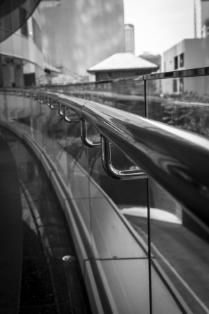 black and white stainless handrail Stock Photo - 17404565