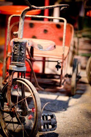 Vintage Bike in Night Market Thailand