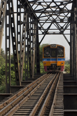 Hierro Puente de ferrocarril en Tailandia Foto de archivo