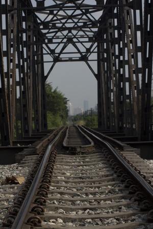 Iron Railway Bridge in Thailand
