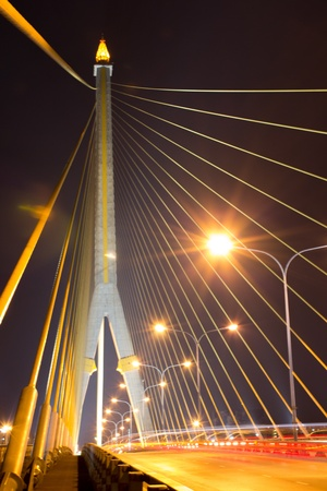 viii: Rama VIII Bridge at night in Bangkok, Thailand