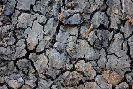 Broken soil in dry season photo