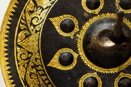 exotic gleam: Old brass gong of victory,Thailand