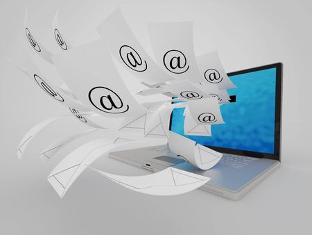 Conceptual image about A lot of  e- mail  Stock Photo