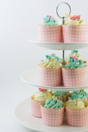 Cup cake on the cake stand photo