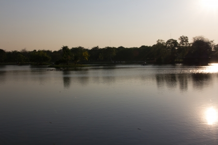 Park in evening
