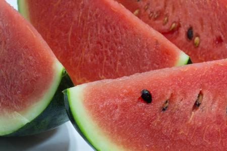 Slices of fresh watermelon Stock Photo
