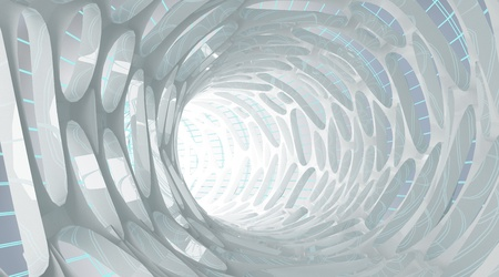 within: Abstract tube-view form within  Stock Photo