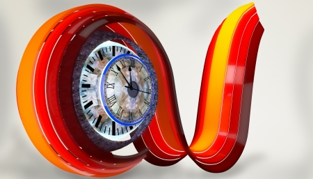 contrasts: warm tone curve with abstract time Stock Photo