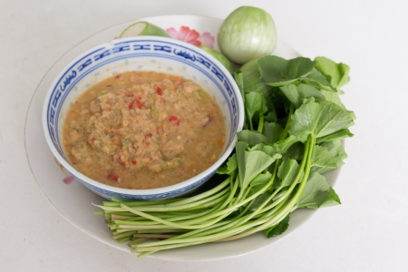 paste sauce with vegetable Stock Photo