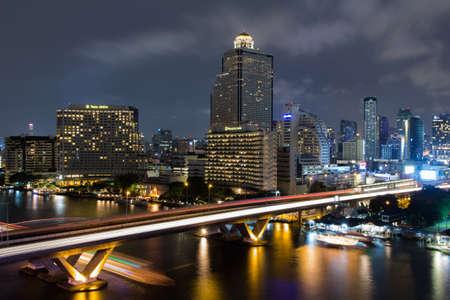 Bangkok cityscape with river,Thailand