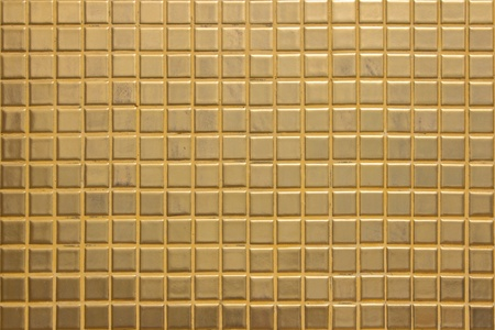 Golden tiles background photo