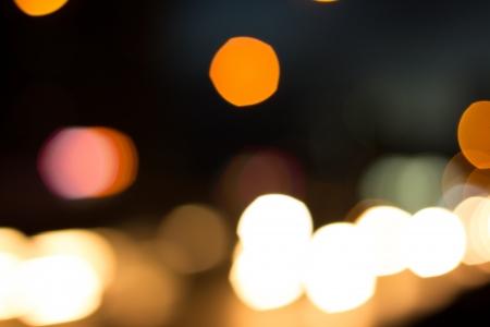 Escena Bokeh noche del atasco Foto de archivo