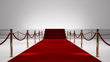 event: red capet with white stage