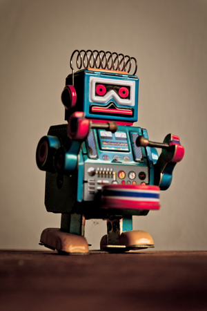 Robot tin toy photo