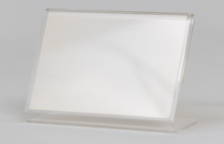 card holder: Acrylic card holder object with white .