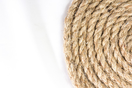 sisal: sisal rope isolated on white