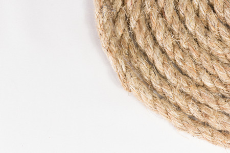 sisal rope isolated on white  photo