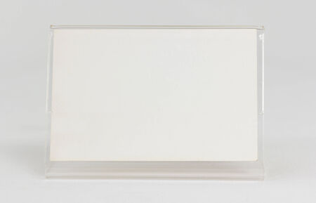 Acrylic card holder object with white . photo