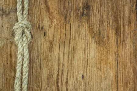 rope on wooden texture  photo