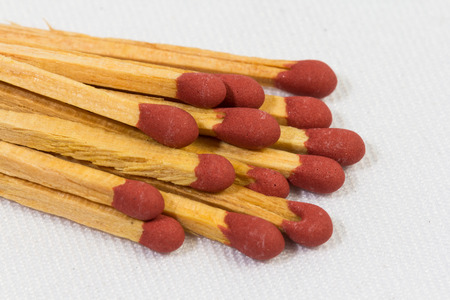 match box isolated on white photo